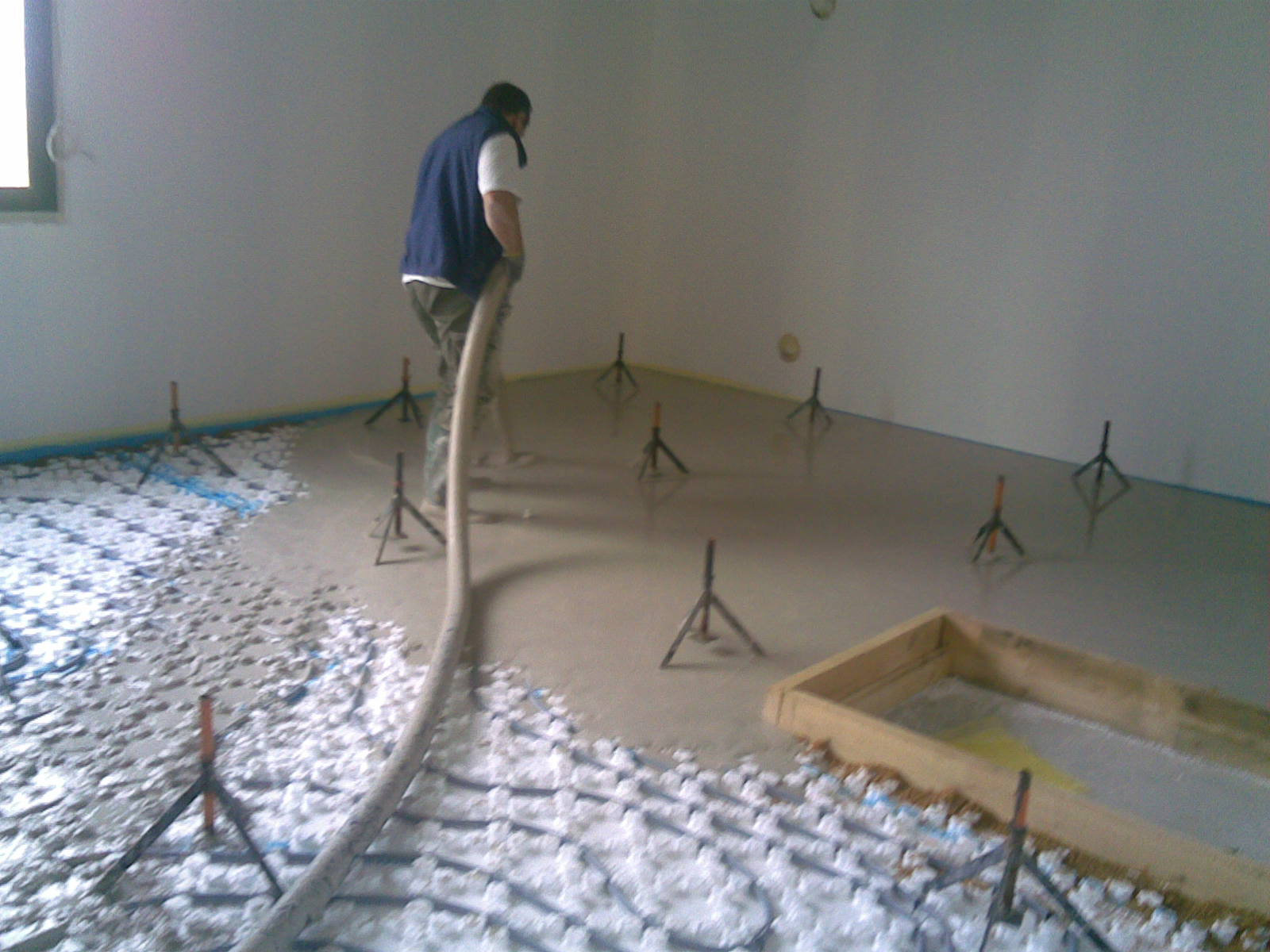 coulage du plancher chauffant